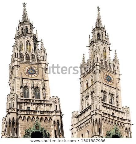 Superior nuevos ayuntamiento Munich Alemania Foto stock © artjazz