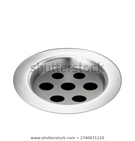 Banho drenar metálico pormenor água Foto stock © pikepicture