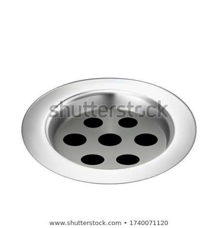 Bad drain metalen detail water stroom Stockfoto © pikepicture