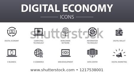 Digitale economia vettore ecommerce idea Foto d'archivio © pikepicture