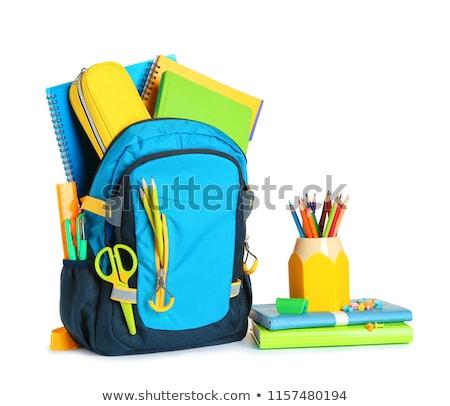 Stock foto: Zurück · in · die · Schule · Kinder · offenes · Buch · Vektor · Kinder · Buch