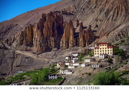 Dhankar Gompa Monastery in Himalayas Stock photo © dmitry_rukhlenko