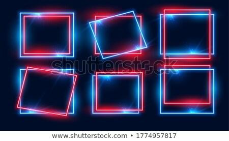 красный синий прямоугольный неоновых кадры набор Сток-фото © SArts