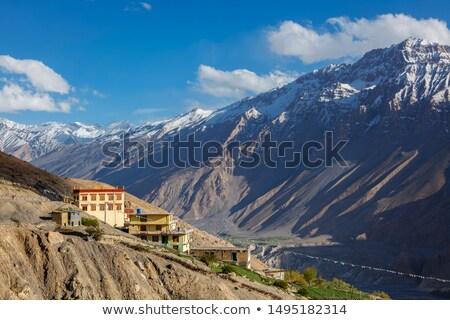 New Dhankar Monastery, Dhankar village in Spiti Valley, India Stock photo © dmitry_rukhlenko