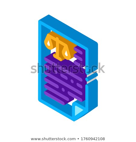 Judicial Document Law And Judgement isometric icon vector illustration Stock photo © pikepicture