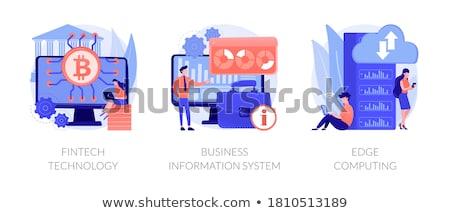 Pago vector metáfora comprar tarjeta de crédito transacción Foto stock © RAStudio