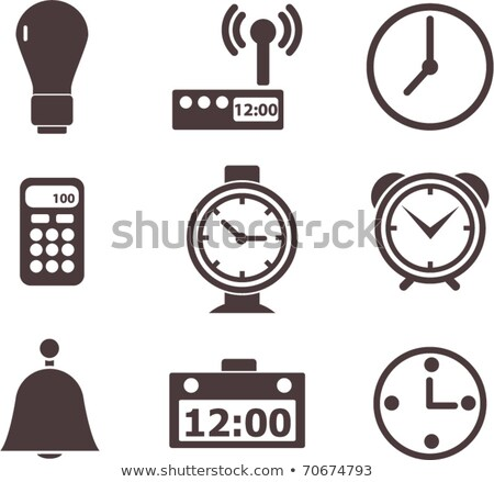 horloge · regarder · ensemble · blanc · noir · bureau · sable - photo stock © adrian_n