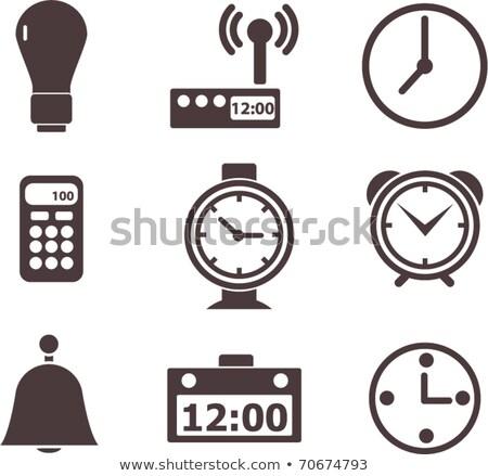 reloj · ver · negro · blanco · oficina · cara - foto stock © adrian_n