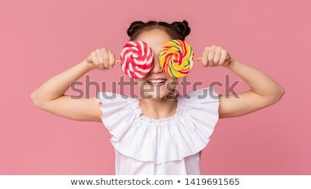ragazza · lollipop · bella · bambina · rosa · alimentare - foto d'archivio © stryjek