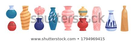 カラフル 花 中国語 陶器 古い ウィンドウ ストックフォト © Ansonstock