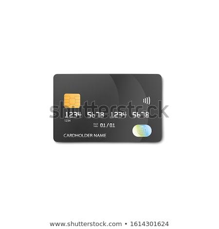falsificação · cartões · de · crédito · logos · bancos - foto stock © creisinger