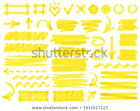 kleurrijk · markeerstift · pen · illustratie · lijn - stockfoto © oblachko
