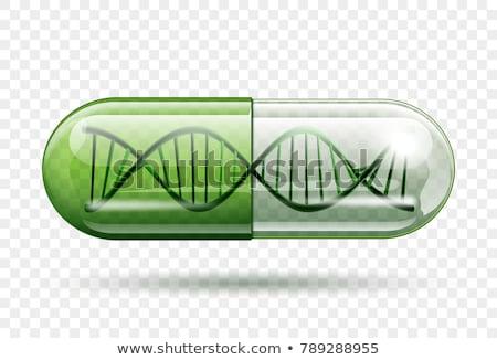 Kapszula DNS absztrakt zöld gyógyszer tudomány Stock fotó © 4designersart
