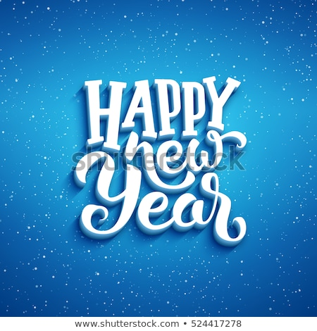 abstract new year text wallpaper stock photo © pathakdesigner
