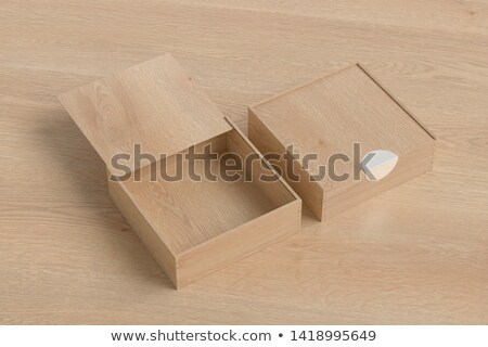 Wood box with open lid Stock photo © stokato