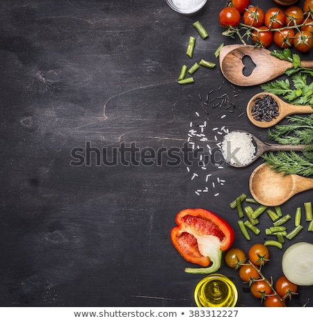 close up white rice on cutting board Stock photo © 808isgreat