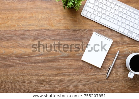 Notebook on wooden background stock photo © Archipoch