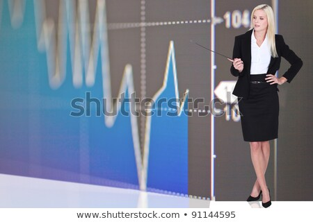 Woman stood by stock update Stock photo © photography33