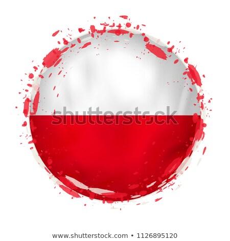 Гранж флаг Польша старые Vintage гранж текстур Сток-фото © HypnoCreative