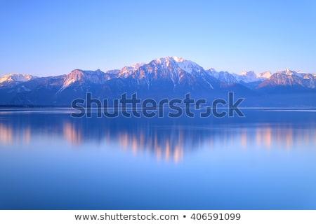 ver · lago · Suíça · água · fonte - foto stock © vladacanon