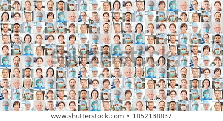 medical doctors group collage stock photo © kurhan