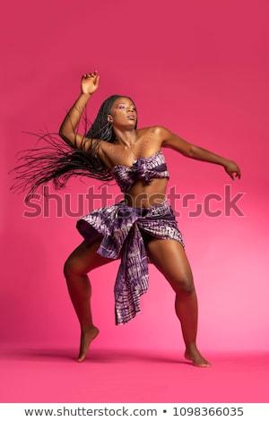 танцы · африканских · женщину · счастливым · пения · модель - Сток-фото © aremafoto