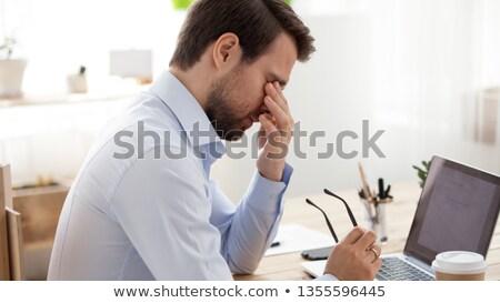 álmos üzletember lövés fáradt kaukázusi üzlet Stock fotó © aremafoto
