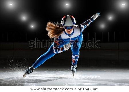 Sebesség korcsolyázás sport vektor nők fitnessz Stock fotó © yura_fx