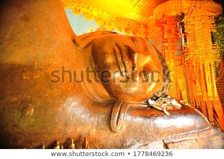 Closeup of Khmer Buddha Head Stock photo © bbbar