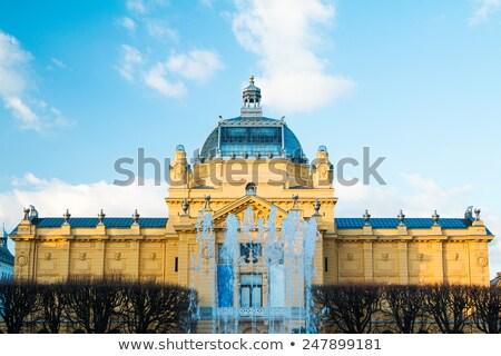 здании фасад рельеф Загреб Хорватия гол Сток-фото © gsermek