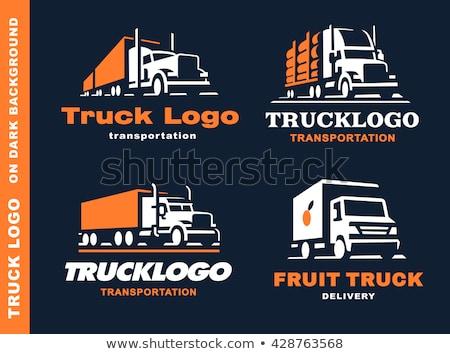Cztery ciężarówki ciężarówka autostrady czarny ruchu Zdjęcia stock © leonido