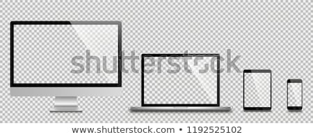 Tablet Computer With Blank Screen Isolated Stock photo © manaemedia