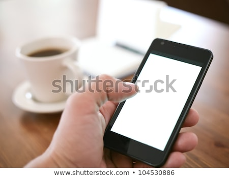 Ludzka ręka telefonu pracy telefon biznesmen Zdjęcia stock © kawing921