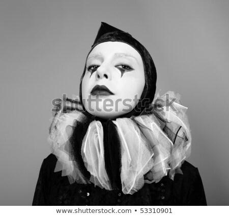 Alla moda artistico femminile drammatico posa Foto d'archivio © gromovataya