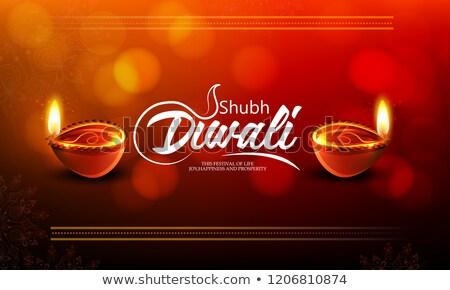 abstract diwali deep wallpaper Stock photo © pathakdesigner
