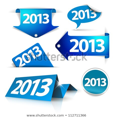 Vector 2013 stickers web Stockfoto © orson