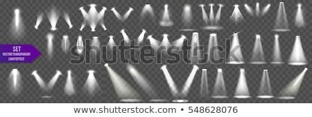 Foto d'archivio: Spot · luci · isolato · bianco · nero · elettrici