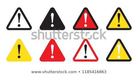 Warning sign isolated on white Stock photo © ozaiachin