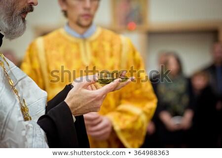 Interior ortodoxo iglesia ruso oro Cristo Foto stock © AndreyKr