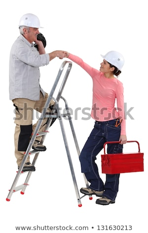 experienced tradesman meeting his new apprentice for the first time stock photo © photography33