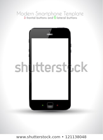 Stock photo: Ultra Realistic modern touch smartphone template
