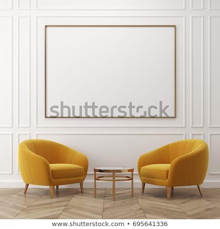 ギャラリー インテリア 2 アームチェア デザイン フレーム ストックフォト © Victoria_Andreas