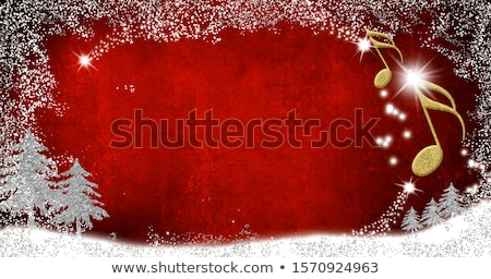 Christmas musical border Stock photo © Anna_Om
