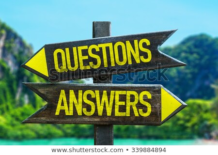 questions and answers in arrows Stock photo © marinini