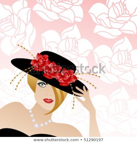 модный · блондинка · посмотреть · красный - Сток-фото © gsermek