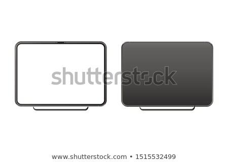 10 · LCD · érintőképernyő · panel · fehér · számítógép - stock fotó © shutswis
