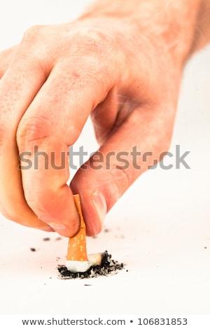 Cigarette put out against a white background Stock photo © wavebreak_media