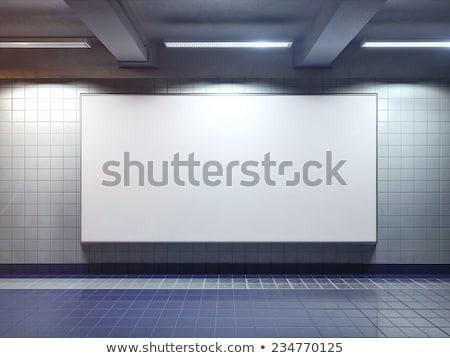 nagy · fehér · üres · óriásplakát · belső · üzlet - stock fotó © maxpro