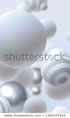 Spheres  and  frosty patterns( Stock photo © ElenaShow