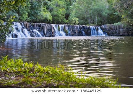 Wodospad mały rzeki kaskada zatoczka jaskini Zdjęcia stock © meinzahn